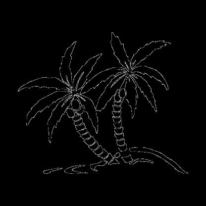 Palm Trees Ocean Beach Silhouette Car Decal Sticker